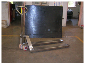 Hydraulic Pallet Truck (std) m.o.c. : stainless steel